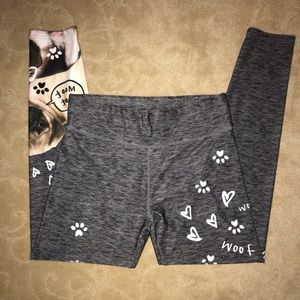 Girls Justice Puppy Graphic Active Leggings